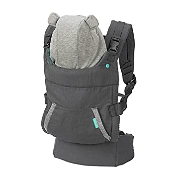 Infantino Cuddle Up Carrier - Ergonomic Bear-Themed face-in Front Carry and Back Carry with Removable Character Hood for Infants and Toddlers 12-40 lbs