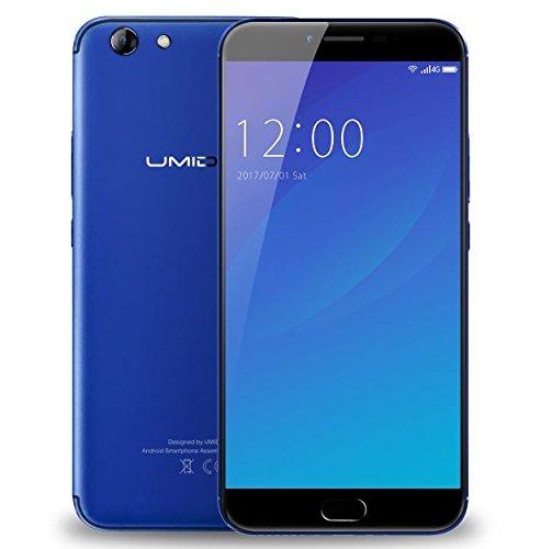 UMIDIGI C Note 2-5,5 Zoll FHD Gorilla Glas 4 Bildschirm Smartphone, 4GB + 64GB Octa Core 1.5GHz, UMI OS (Android 7.0), 5MP + 13MP 4000mAh Akku - Blau