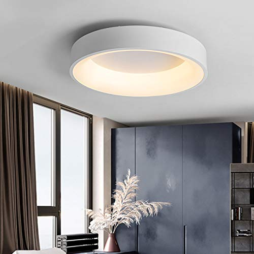 HE-XSHDTT Oberflächenmontierte Moderne runde Downlight-Lampe Kreisförmige Deckenleuchten, LED-Deckenleuchte für Wohnzimmer, Schlafzimmer, Küche, Balkon,Whitethreetonelight,38w/60