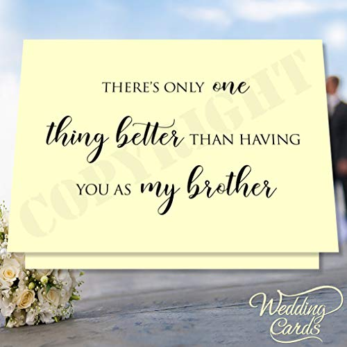 Wedding Cards Personalisierte Hochzeitskarte mit Gedicht Will You Walk me down The Aisle, Elfenbeinfarbenes/cremefarbenes, Mattes Papier, A5 Folded into A6 (105 x 148 mm / 4.1 x 5.8 in)