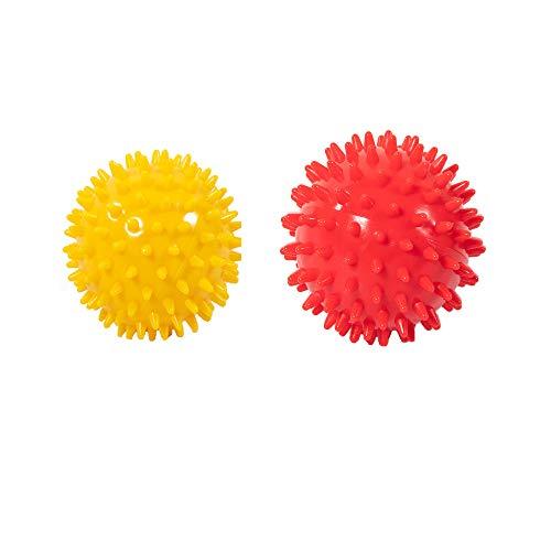 YUEMING 2Pcs Palla di Massaggio, 2 Taglia 7.5cm 9cm Spiky Massage Ball, Hedgehog Palline Massaggio Adulti Terapia del Dolore Antistress per Massaggiare i Piedi, Spalle,...