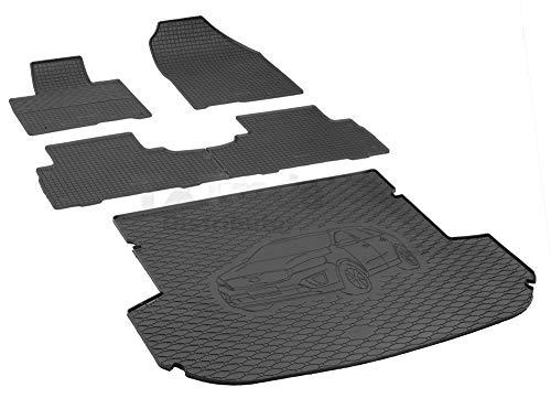 Passende Gummimatten und Kofferraumwanne Set geeignet für KIA Sorento 5-Sitzer ab 2015ein Satz + Gurtschoner