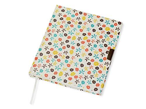Álbum de poesía con cerradura, libro de escritura grueso con pequeñas flores, libro en blanco con marcapáginas, 16,5 x 19 cm, 100 hojas de papel de escritura blanco, para niños como diario