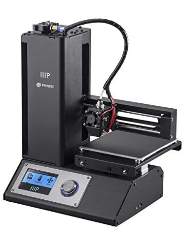 Price comparison product image Monoprice Select Mini 3D Printer V2 - Black With Heated (120 x 120 x 120 mm) Build Plate,  Fully Assembled + Free Sample PLA Filament And MicroSD Card Preloaded With Printable 3D Models