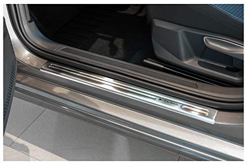 tuning-art EX103 Edelstahl Einstiegsleisten Set, Farbe:Silber
