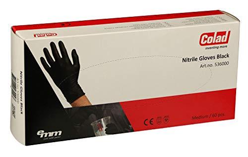 Colad 60 Einweg Nitrile Handschuhe/Extra Schwarz (Größe: XL)