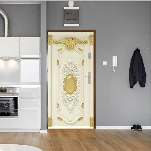 Türtapete Selbstklebend Türposter - Barock Retro 3D Stereo Tür Aufkleber - Fototapete Türfolie Poster Tapete