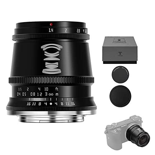 TTArtisan 17mm F1.4 APS-C Obiettivo con messa a fuoco manuale compatibile con fotocamere E-Mount A5000 A5100 A6500 A6600 NEX Di più