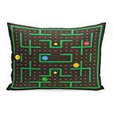 Semtomn Throw Pillow Covers Pac Man Analog Game Ghosts Modern Arcade Video Interface World Computer Mobile Screen Pillow Case Cushion Cover Lumbar Pillowcase for Couch Sofa 20 x 26 inchs