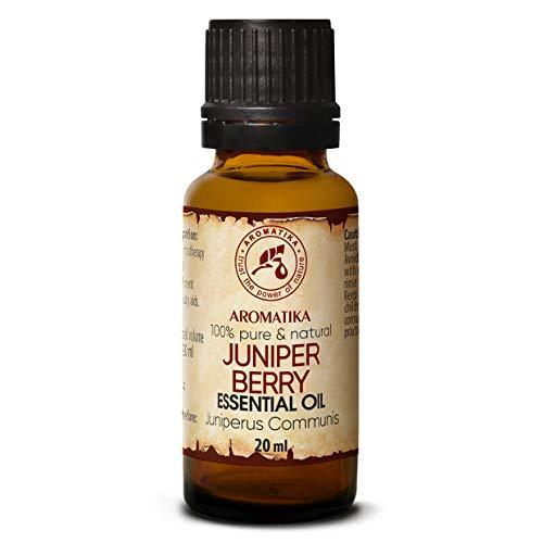 Aceite Esencial de Bayas de Enebro 20 ml - Juniperus Communis - Aromaterapia - Fragancias para el Hogar - Aroma de Coníferas - Puros Aceites de Bayas de Enebro para - Cuerpo - Difusores - Sauna &Cama