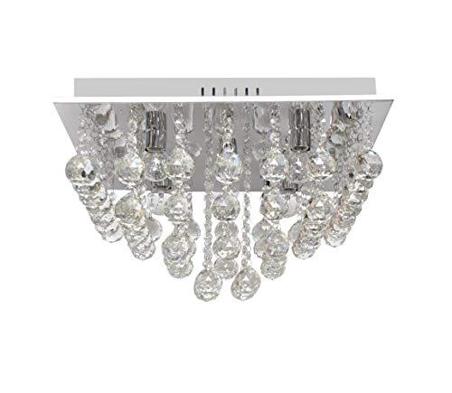Lámpara de techo de cristal Clarion Square 5 bombillas E14/60 W/230 V