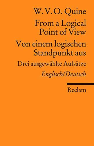 From a Logical Point of View / Von einem logischen...