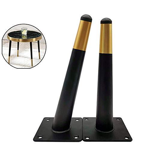 Gnova Schrankfuß Tischfuß,Stahlrohrfüße für Sideboards,4 StückMetall Möbelfüße für Kabinetthalterung