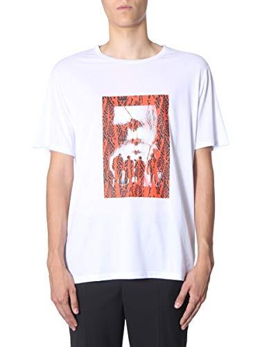 Neil Barrett Luxury Fashion Hombre BJT623SM577S607 Blanco T-Shirt | Otoño-Invierno 19