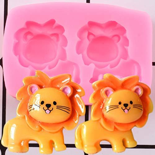 LNOFG Cartoon Lion Silicone Mold Baby Birthday Cake Fondant Cake Decoration Tool Candy Clay Chocolate Mold