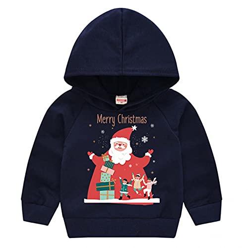 BGFR - Sudadera de Navidad con capucha para niño o niña, con capucha, otoño e invierno, cálida, sudadera con capucha, pijama
