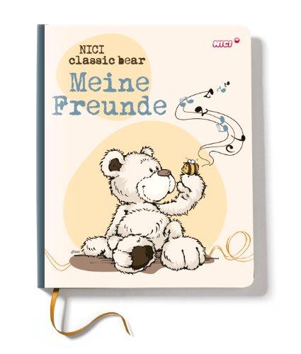 Nici 36985 - Kindergarten Freundebuch Bär, 15 x 18 cm, Creme/braun