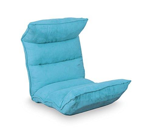 Poltrona relax regolabile Sofà mod Milù reclinabile divano velluto MEDIA WAVE store  (celeste)