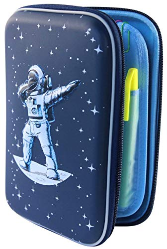 Space Galaxy Dabbing Spaceman Pencil Case Pen Pouch Organizer with Astronaut and Star Design | Lime & Lane
