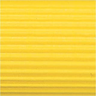Corobuff Solid Color Corrugated Paper Roll, 48 Inches x 25 Feet, Canary