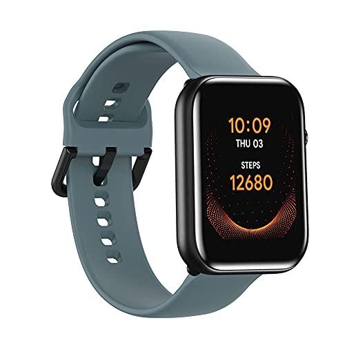 Correa de reloj de repuesto deportiva compatible con TicWatch GTH/TicWatch E Smartwatch Mujeres Hombres, Pulsera de silicona flexible compatible con Ticwatch 2/Ticwatch C2 (Plata/Negro) - Rock Cyan