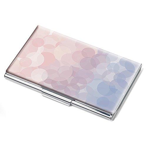 Troika Visitenkartenetui, Motiv: Serenity Rose, flach, für ca.11 Karten, Metall, verchromt, glänzend, Mehrfarbig