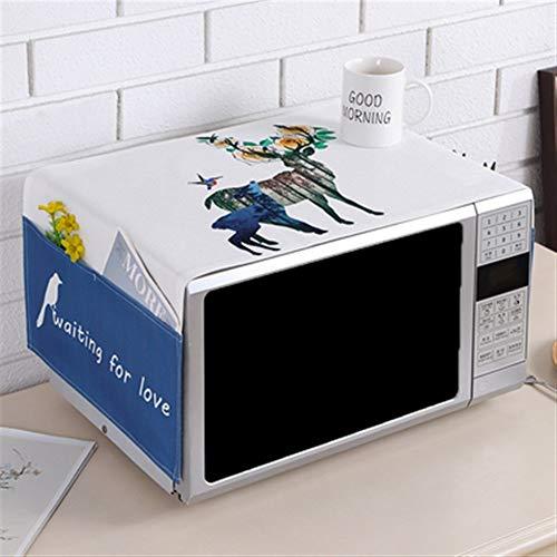 47-B Cubierta de algodón para microondas, impermeable, cubierta para aceite, polvo de cocina (color: G)