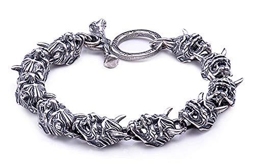 925 sterling zilveren motorarmband, hiphop domineering retro punk armband mannen en vrouwen paar punk high-end geluksgeschenk souvenir sieraden.