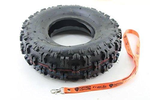 Nitro Motors Reifen für Quads 4.10-6 Tyre x Profil Pocket Dirt Bike Quad ATV + Gratis Schlüsselanhänger Lanyard