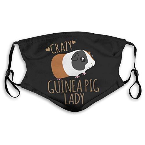 Clásico Crazy Guinea Pig Lady Adultos Bandana Cara Cuello Polaina Cara Bufanda Mask-Dust, Transpirable Pesca Senderismo Correr Ciclismo