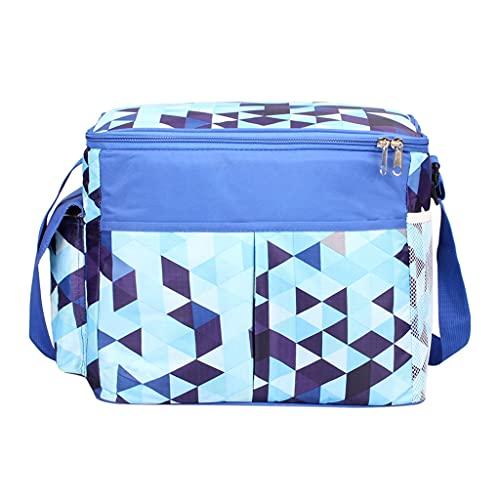 WFS Bolsas térmicas Bolsa de Picnic de Enfriador a Prueba de Fugas Picnic Bolsa de Enfriador de Refrigeradores para el Almuerzo para Acampar Picnic Viajes Playa (Color : Blue)