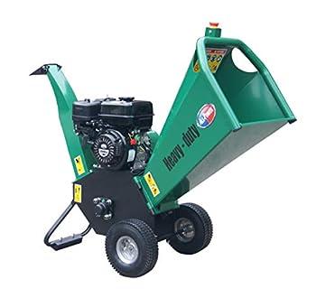 All Power America APWC210 Heavy Duty Durable Wood Chipper Shredder Mulcher-Max 4  Inch Cutting Diameter Capacity Gas Powered 7HP 208cc 4 inch Green/Black