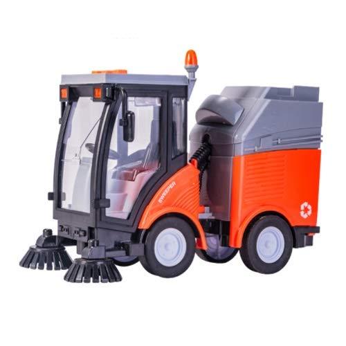 Lihgfw Große Kehrmaschine Müll sanital Reinigung Auto Kinder Road Boy Sweeper Boy Autotechnik Fahrzeug Spielzeug (Color : Orange)