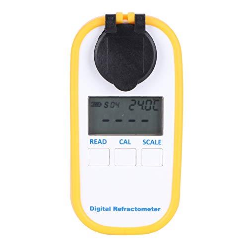 logozoee Refractómetro Digital Brix, con función de compensación automática de Temperatura Refractómetro Digital Honey, para Contenido de azúcar, Baume, Water Bee Tools
