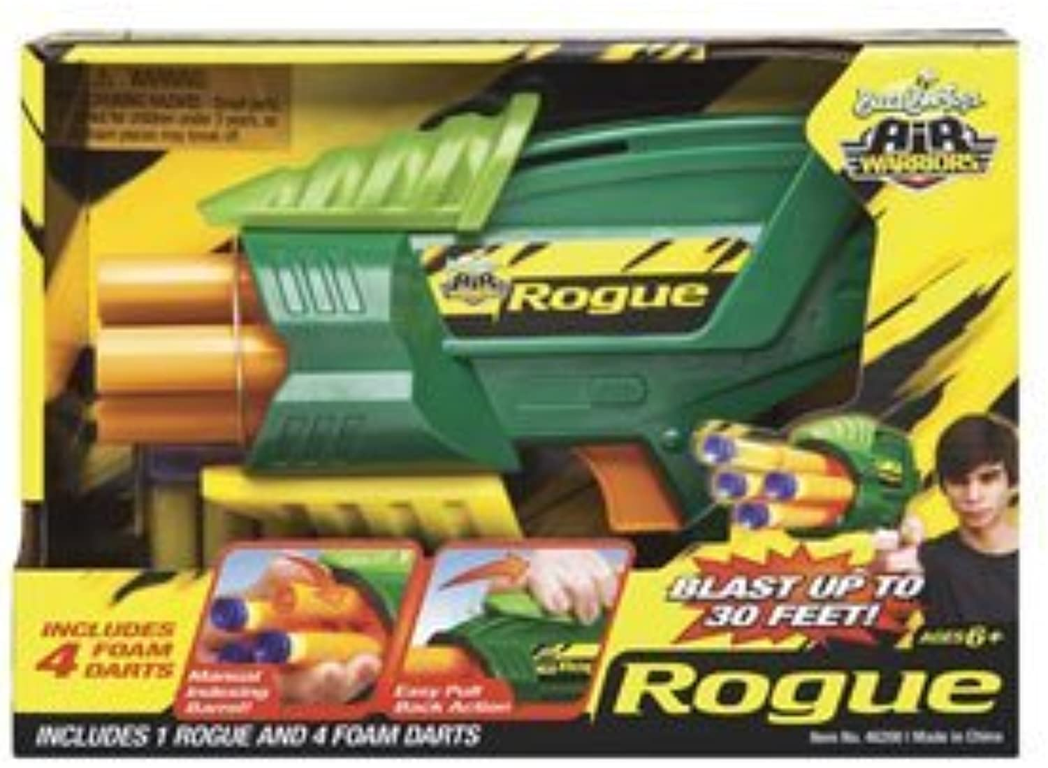 Buzz Bee Toys Air Warriors Rogue with Foam Darts by Buzz Bee