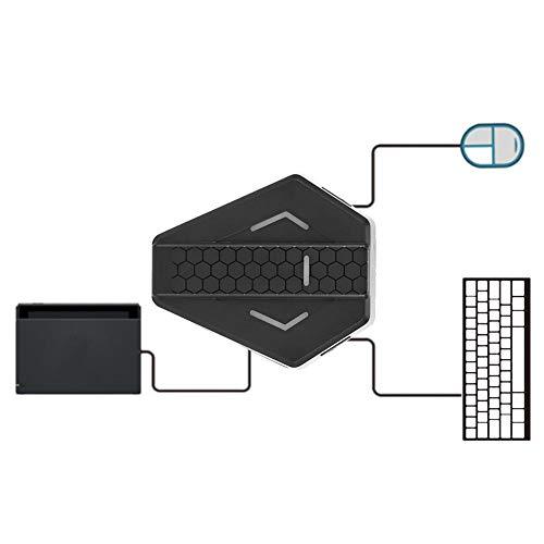 Topiky Convertisseur d'adaptateur Clavier et Souris USB pour X-360/X-1/pour PS3/pour PS4/pour N-Switch Console de Jeu Gamepad(Black)