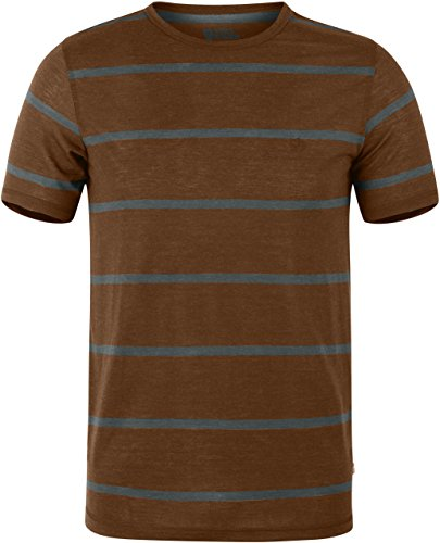 FJÄLLRÄVEN Homme High Coast Stripe T-Shirt M Châtain