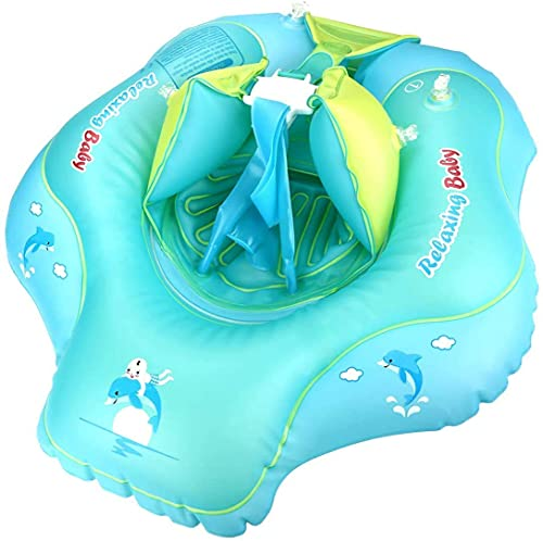 JUQIAO Flotador Inflable De Natación para Bebé con Anillo Inflable De Cintura Ajustable para Asiento(Verde XL)
