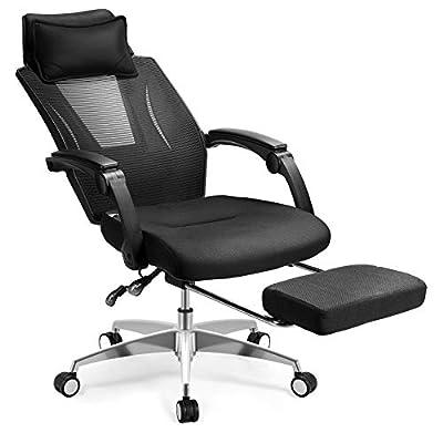 【Comodidad Fantástica】Como una silla de oficina ergonomicá lo que más importante es la comodidad.El diseño ergonómico cumple perfectamente con esta condición.Según su estatura,ajusta la posición de la reposacabeza y la altura de la silla.El ángulo se...