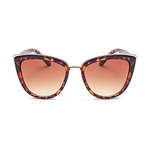 NXMRN Gafas De Sol Gafas De Sol De Ojo De Gato Para Mujer, Gafas De Gradiente Vintage Para Hombre, Gafas De Sol De Ojo De Gato Retro, Gafas Uv400-leopardo