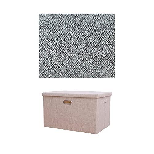 LXZFJW Cestas De Almacenaje Plegables Organizador Apilable Cajas para Ropa para El Dormitorio(Size:44×29×27cm,Color:Brown1)