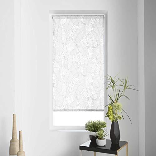 Tenda a rullo per interni, 45 x 180 cm, in poliestere batik, colore: bianco