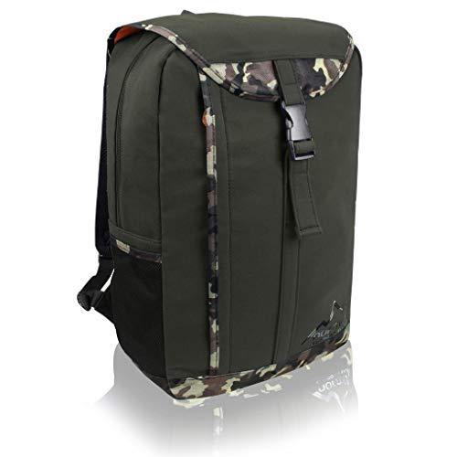 normani Outdoor Sport 20l - Großer Backpakc mit Rückennetz, Laptopfach und Zwei Trinkflaschenhalter - Perfekt als Schultasche für Männer und Frauen Farbe Oliv