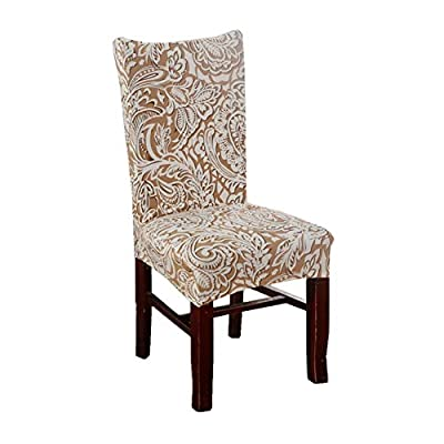 Stretch Removable Washable Short Dining Chair Protect Cover Slipcover