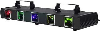 DJ Party Light 5 Effet de Faisceau activé par Le Son Disco Strobe Light RGBY LED Music Lights by DMX 512 Control pour Disc...