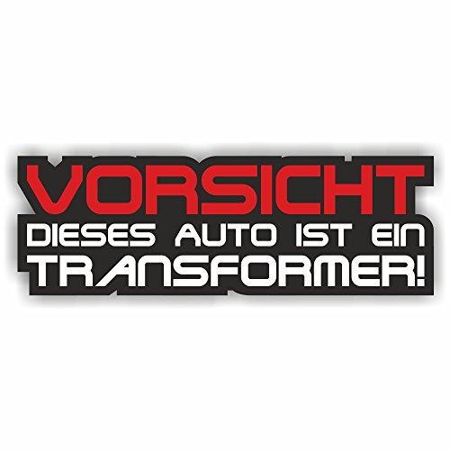 foliezentrum 1x voorzichtig Transformer 14 x 4,5 cm sticker Tuning 322 Shocker Auto JDM OEM Dub Decal Sticker Illest Dapper Oldschool Folie