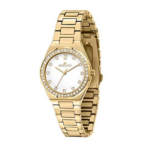 Morellato Orologio da donna, Collezione Ego, in Ottone, PVD giallo oro, con cinturino in ottone - R0153164504