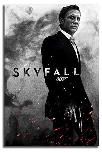 MRFSY James Bond 007 Skyfall Póster de arte contemporáneo pintura al óleo vertical de pared arte abstracto pinturas en lienzo de 60,96 x 91,44 cm