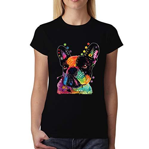 avocadoWEAR Bulldog Francés Mujer Camiseta XS-3XL