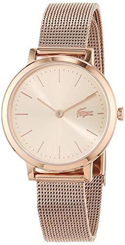 Lacoste Damen Analog Quarz Uhr mit Roségold Armband 2001051
